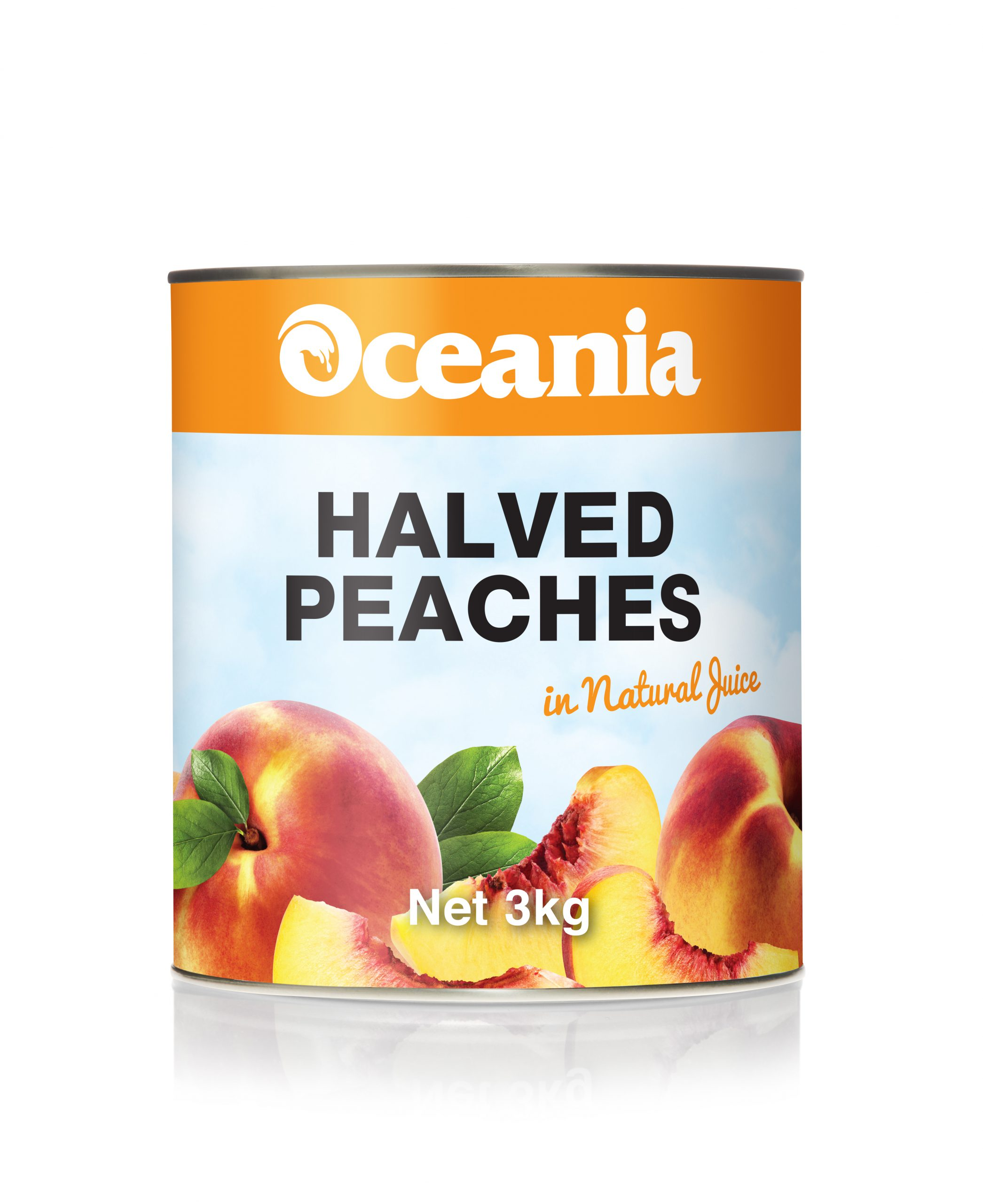 Halved Peaches in Natural Juice