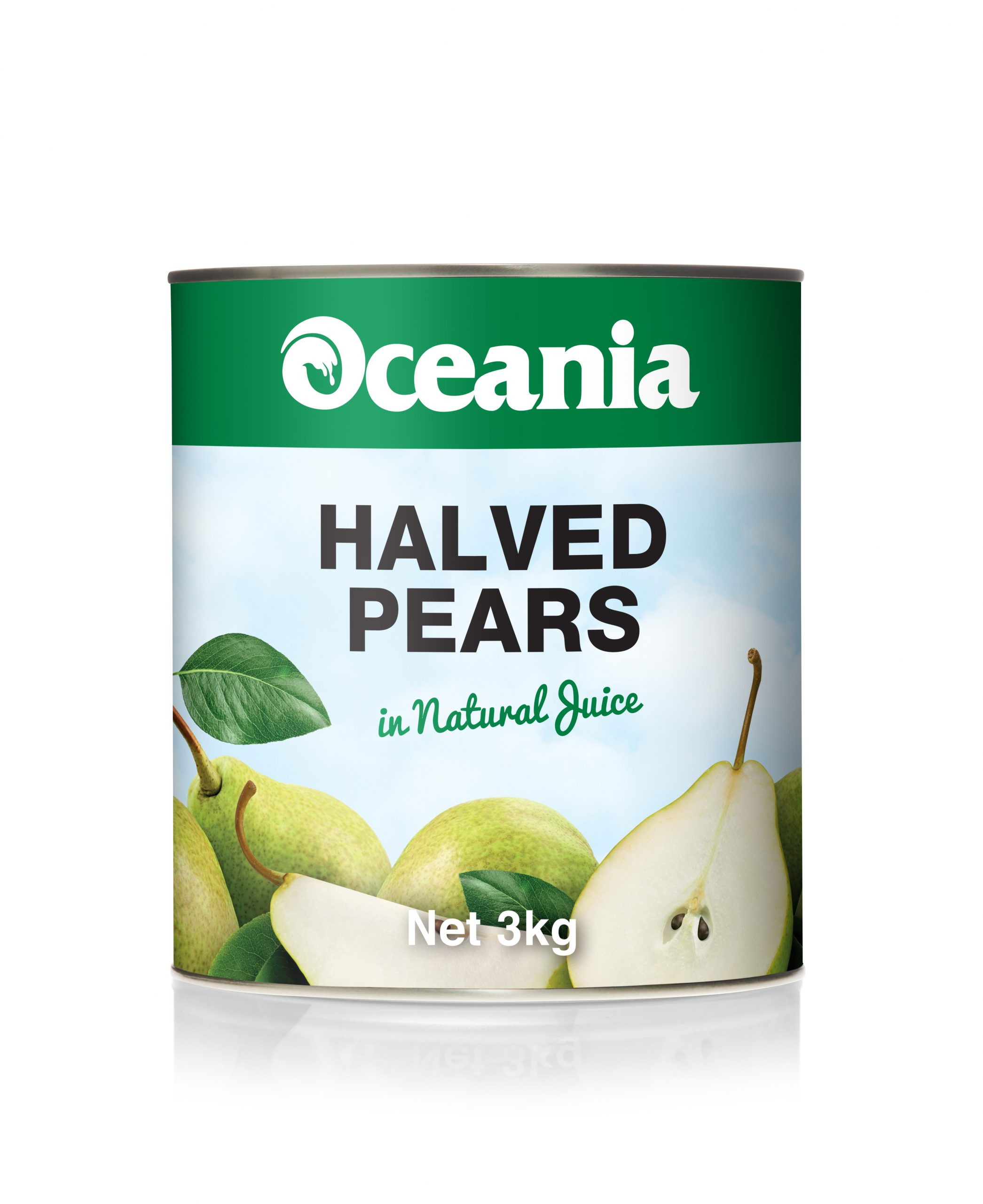 Halved Pears In Natural Juice